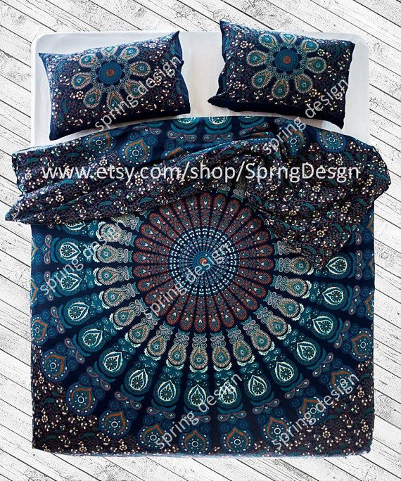mandala queentween or single size duvet cover kairos bohemian quilt 100