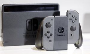 The Nintendo Switch games console