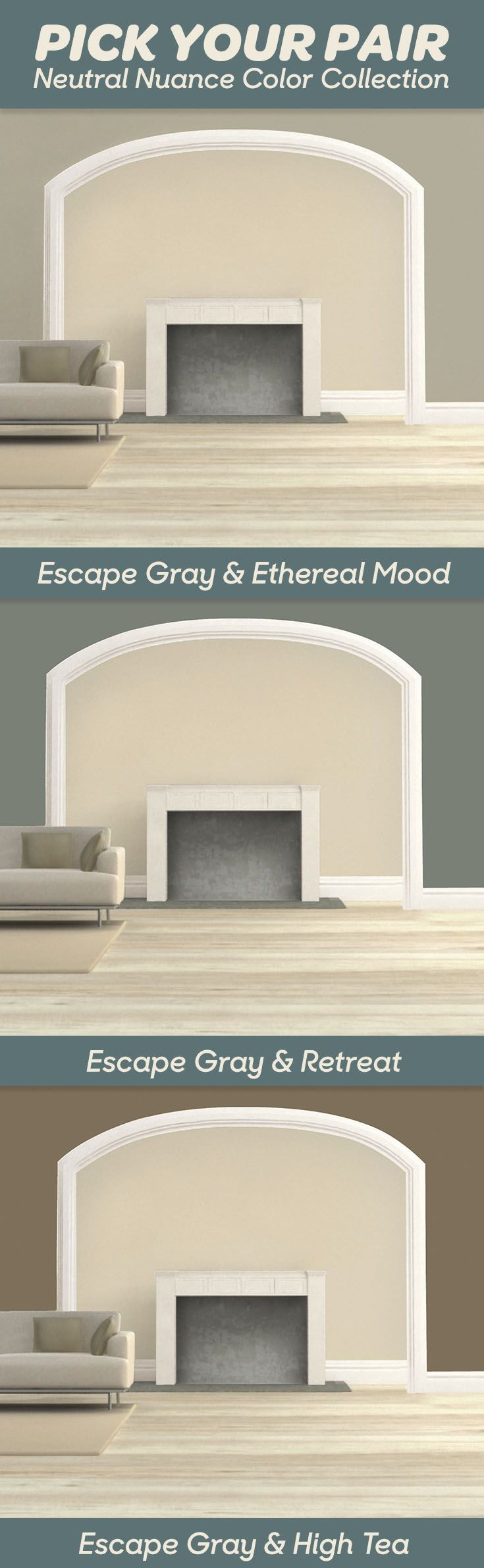 Bedroom Ideas So Many Colors Go Great With Escape Gray SW6185 19 From The Neutral