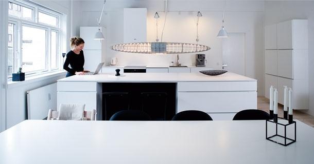 Danish designer Morten Bo Jensen's kitchen in BO BEDRE