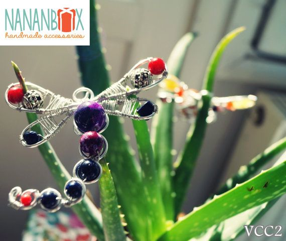 Dragonfly necklace  Code: VVC2 by NananBox on Etsy