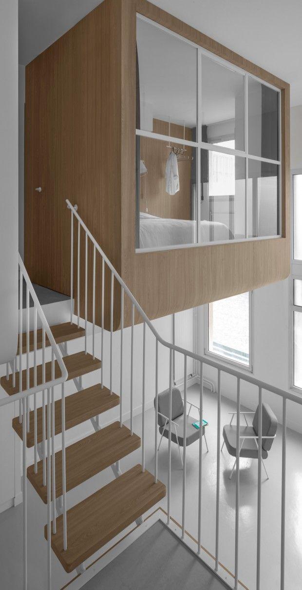 Renovation De Deux Ateliers Logements A La Cite Internationale Des Arts A Paris Par L Agence Lalm Guillaume Delvigne Amenagement Maison Amenagement Interieur Maison Design