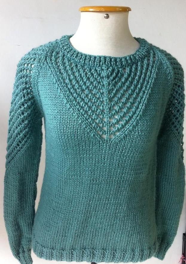 Blusa tricô com a lã Sensação da Aslan