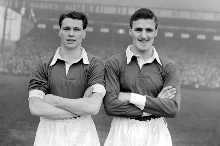 Bobby Robson and Jimmy Hill, 1953.
