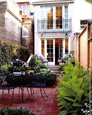 outdoor living in the city . . .