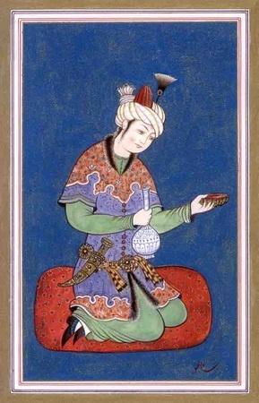 Persian Miniature with cloud collar