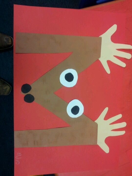 "M is for moose - Great craft to do after reading ""If You Give a Moose a Muffin"""