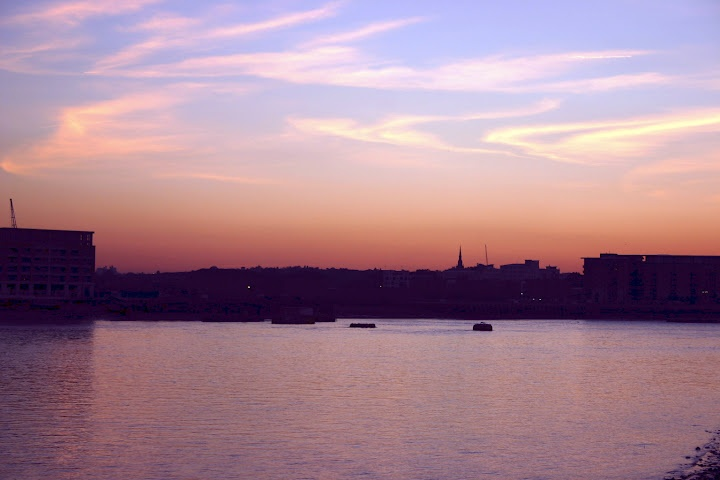 Sunset over Thames from Greenwich, England © Marsha K. Russell