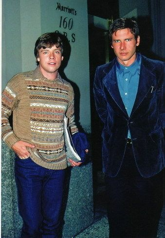 Harrison Ford and Mark Hamill. This is the most staggeringly normal picture I've ever seen of them.