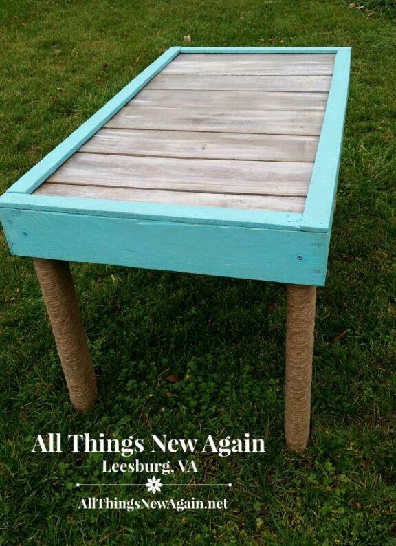 Real Milk Paint pallet wood table2