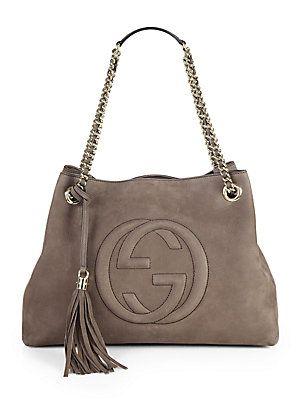Gucci Soho Nubuck Leather Shoulder Bag