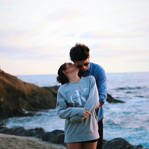 love, couple and kiss image on We Heart It