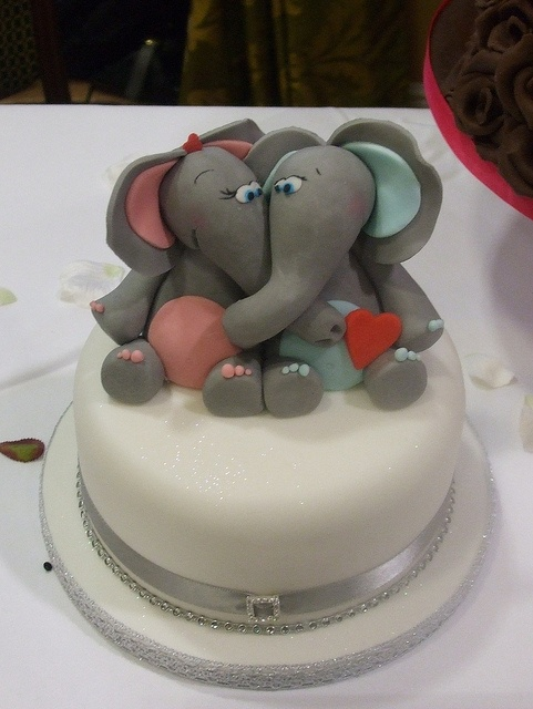 Indian Elephant Wedding Cake Toppers