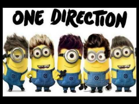 One Direction Minion Style. #minions #onedirection #music