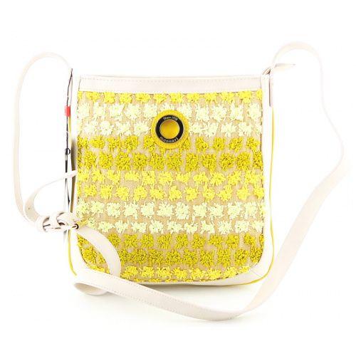 Štýlová béžovo-žltá crossbody kabelka MONNARI