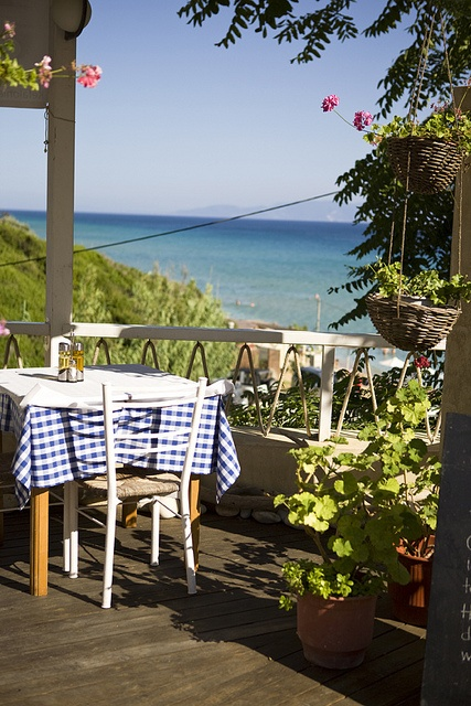 Table at a Greek taverna, Kefalonia,   Just want to sit and sip wine here.
