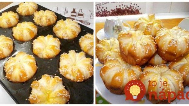 Syrové rožteky z formy na muffiny: Keď položíte na stôl toto jemné pečivo, všetci na ňom budú môcť oči nechať!