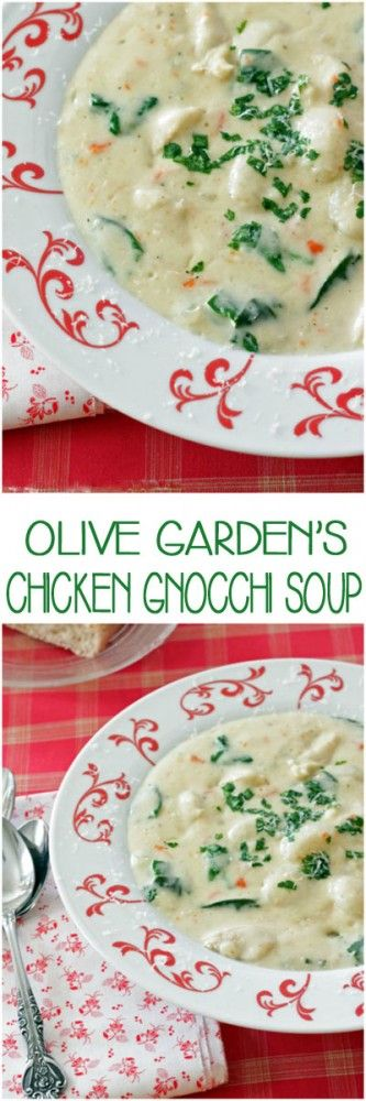 Olive Garden's Chicken Gnocchi Soup-Copy Cat | Jodeze Home and Garden
