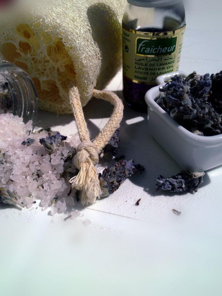 Baño De Tina Con Sal De Mar:sal de mar para el baño de Lavanda de Regalosuerte en Etsy