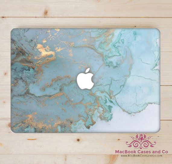 Ocean Blue Marble MacBook Case Hard Plastic by MacBookCasesandCo                                                                                                                                                                                 More