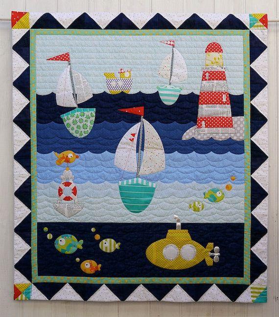 Ship to Shore Applique Quilt Pattern Instant Download PDF