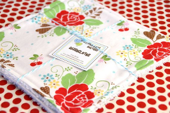 Eco Friendly Washcloth or Cloth Wipes with by LittleBirdsBoutique, $6.00