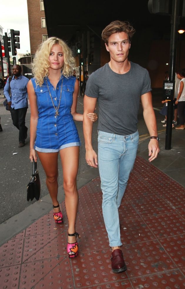 Pixie Lott and boyfriend Oliver Cheshire at the 'Attitude Hot 100 Party' held at Paramount.