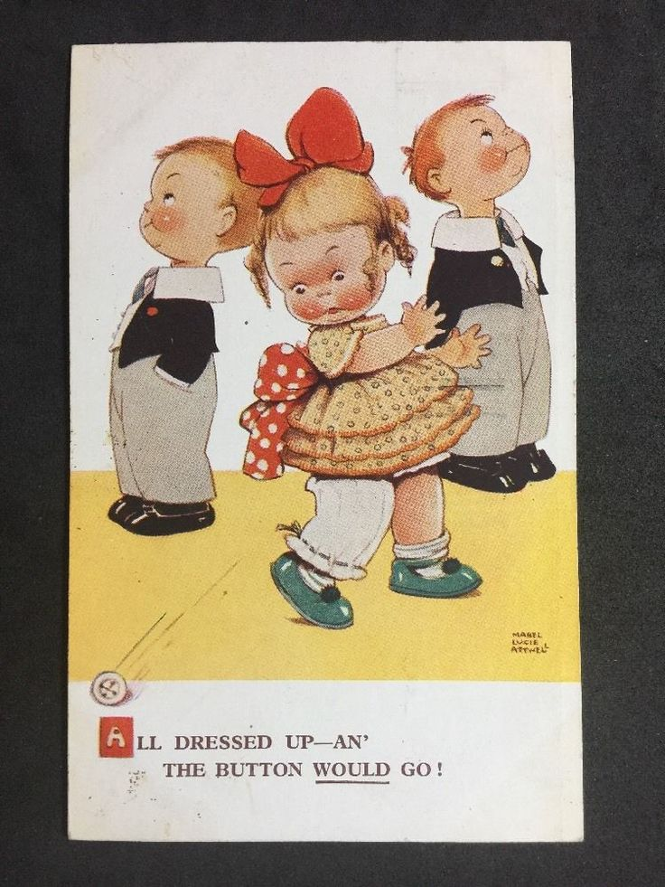 Vintage Postcard: Artist Signed: Mabel Lucie Attwell No. 2421 Posted: 1931 #A189 | eBay