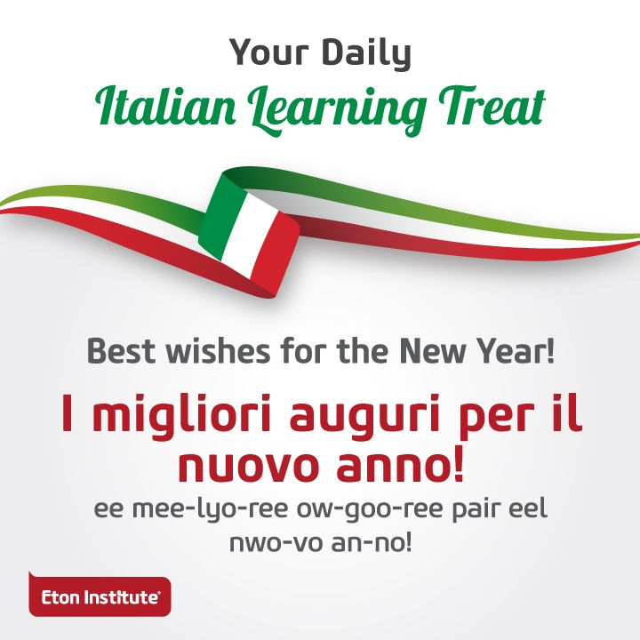 30 best italian language images on pinterest idioms italian learn to say best wishes for the new year in italian and share with m4hsunfo