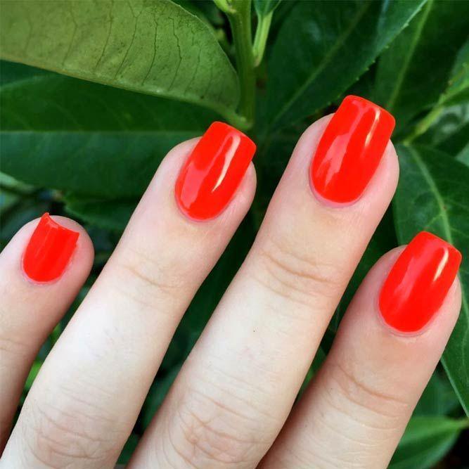 55 Fabulous Summer Nail Colors Naildesignsjournal Com Red Summer Nails Bright Red Nails Nail Designs Summer