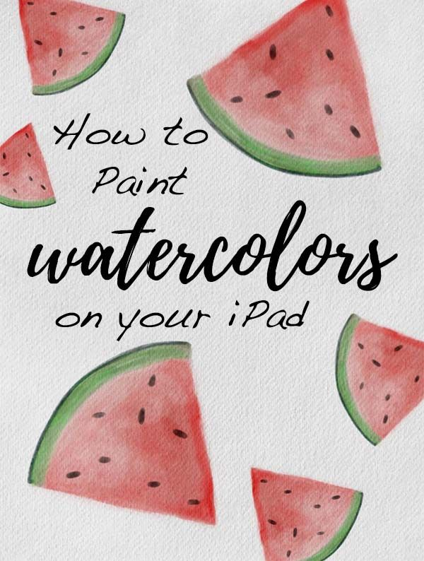 Digital Watercolors On Your Ipad Using Procreate 9 Free Brushes