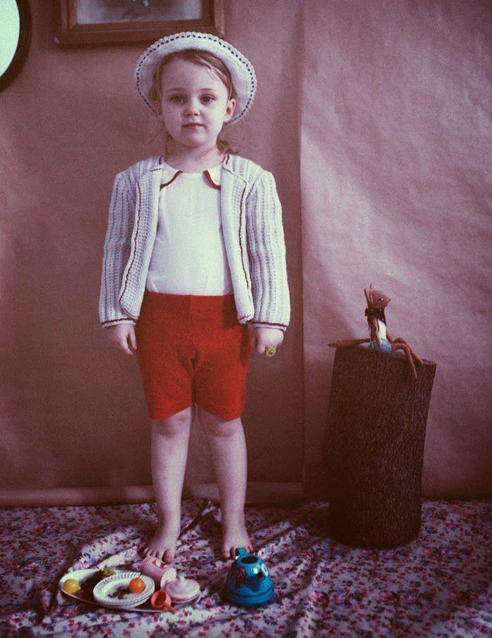 shoot for papier-mache magazine  cardigan: Bieq/ jumpsuit : woovenplay  photo: Barbara Berrada