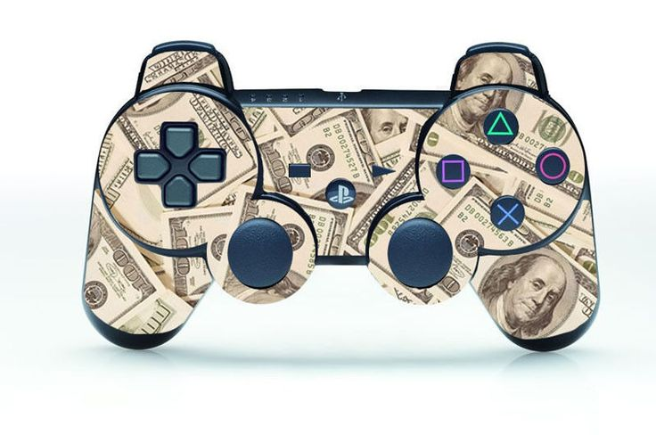 100 dollar!SKIN STICKER for PS3 REMOTE CONTROLLER PLAYSTATION 3 Moeny Here #UnbrandedGeneric