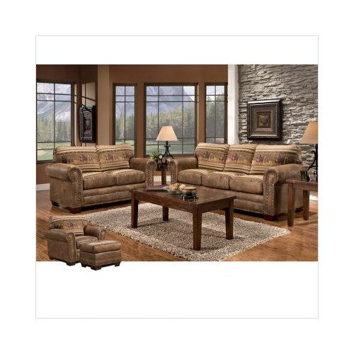 bundle 85 american furniture classics lodge wild horses sofa and love