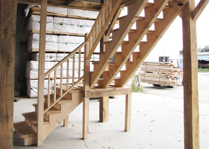 Post and Beam Stairs   Wood Stair Kits   Jamaica Cottage Shop