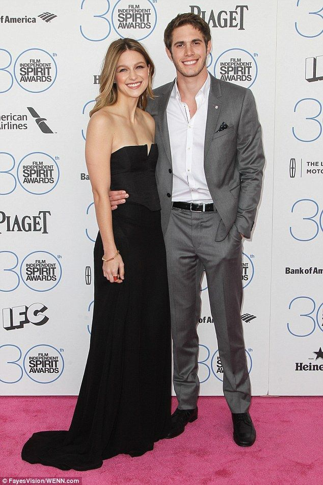 The happy couple: Pictured together here back in February at an event in Los Angeles...
