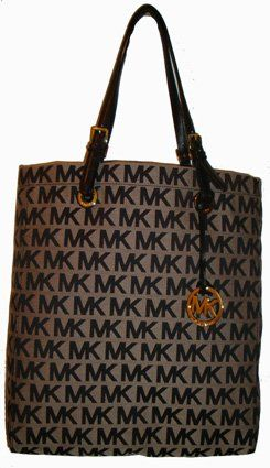 Women\u0027s Michael Kors Purse Handbag Tote Beige:Black:Black