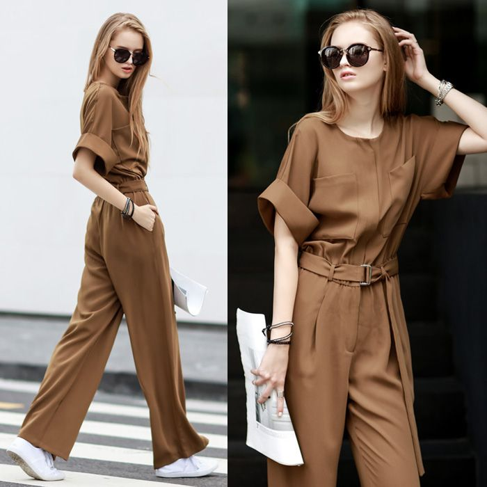 [TWOTWINSTYLE] 2017 spring summer elegant high waist rompers womens jumpsuit with belt black clothing new fashion
