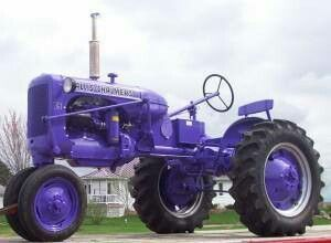 Not the right color of purple I like. Never seen a purple tractor.