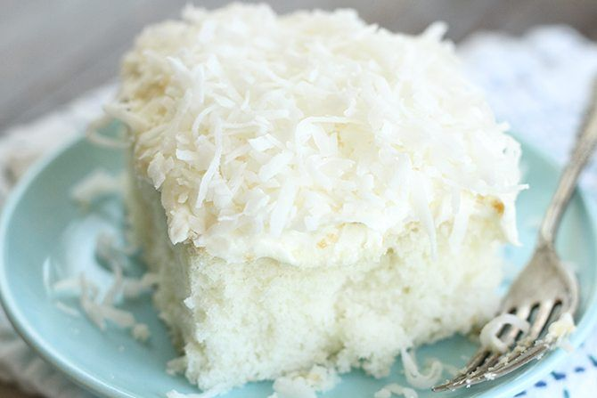 This Dreamy Coconut Sheet Cake starts out with a boxed cake mix but turns into something magical!