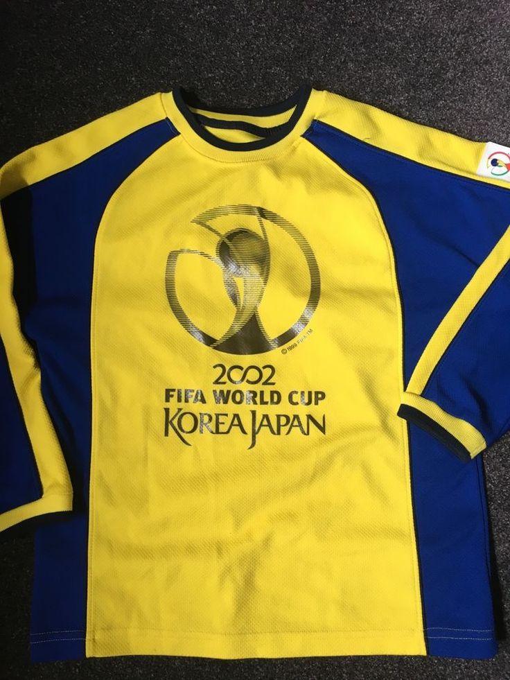 boys football top age 9-10 2002 FIFA WORLD CUP KOREA JAPAN M&S    eBay