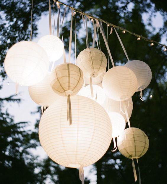 grouping paper lanterns