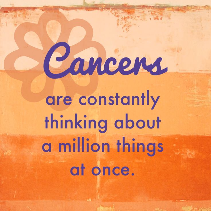 Change Zodiac Sign Cancer to Cancer Free! I keep telling Jesse this is why I have a hard time hearing things, my inner monologue is too loud!