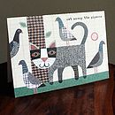 'Cat Among The Pigeons' Card
