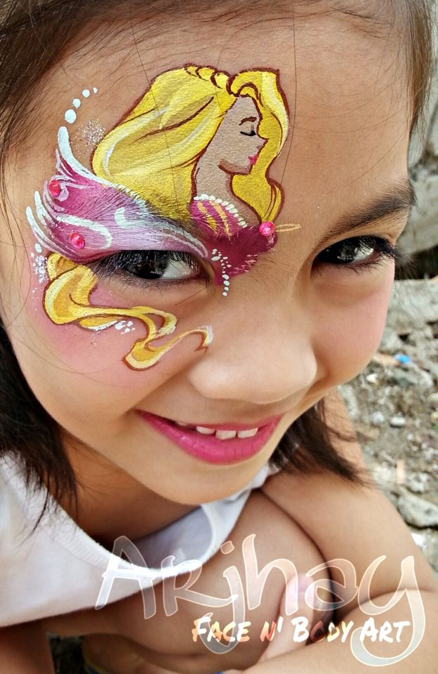11 best pretty girls face painting images on pinterest for Pretty designs to paint