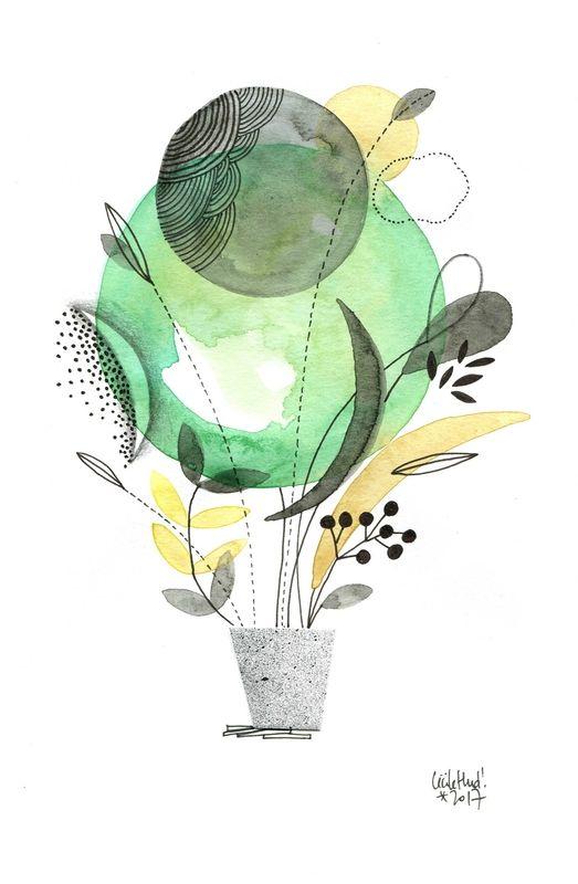 pot vert, Cécile Hudrisier