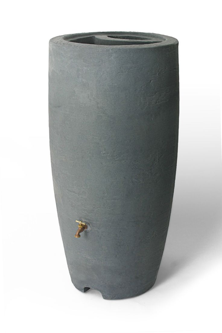 Athena 50 Gallon Rain Barrel in Charcoal
