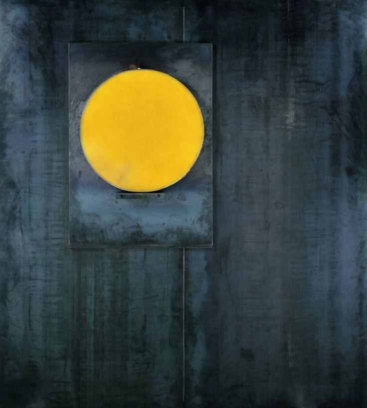 Jannis Kounellis, Untitled, 1987. Lead, wax, and steel, 79 x 71 1/8 x 7 1/2 inches (200.7 x 180.5 x 19 cm)