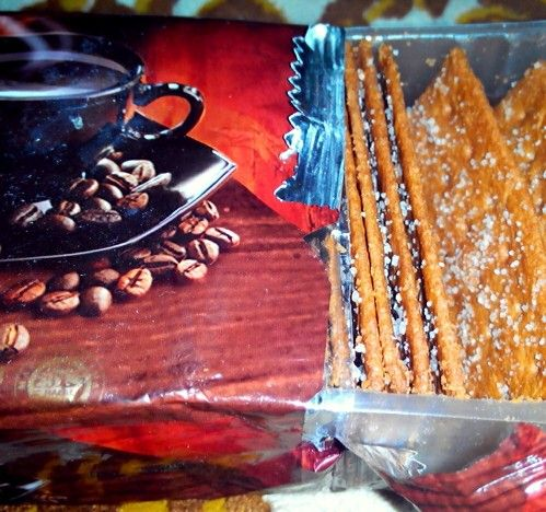 Made in Indonesia. Biscuit. coffee
