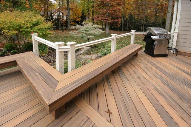 L shaped outdoor bench design plans backless composite for Composite decking sale